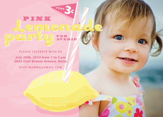 party invitations - Sunny Sipper by Rebecca Durflinger