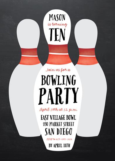party invitations - Lucky Strike by Erica Krystek