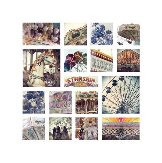 art prints - Vintage Carnival Collage by Gray Star Design