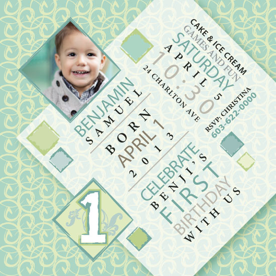party invitations - Curly Q by Susan Englert