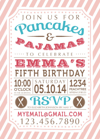 Party invitations pancakes pajamas birthday at minted party invitations pancakes pajamas birthday by bluejay paper filmwisefo Gallery