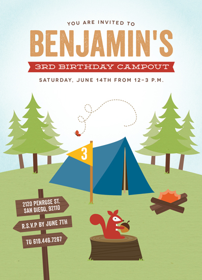 party invitations - Critter Campout by Erica Krystek