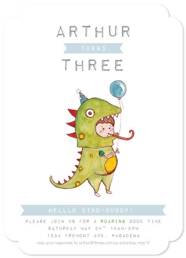 party invitations - ROAR Dino-Boy by Diana Bae