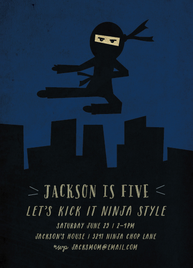 party invitations - ninja style by Rebecca Bowen