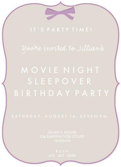 party invitations - Sleepover Movie Night by Dana Jennings