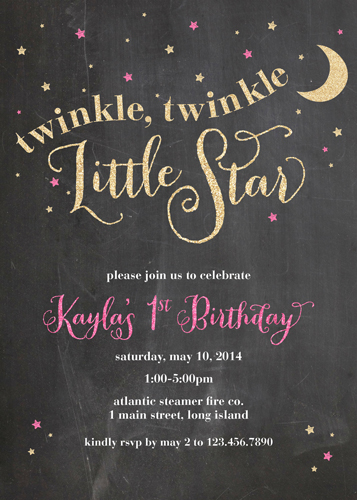 party invitations - Stars & Sparkles by Brooke Young