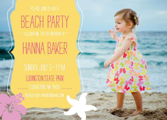 party invitations - Beach Kid by Linda Beach