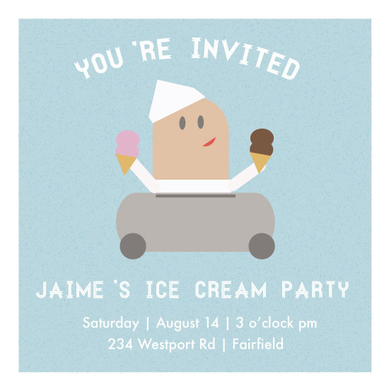 party invitations - Ice Cream Man by Dana Jennings