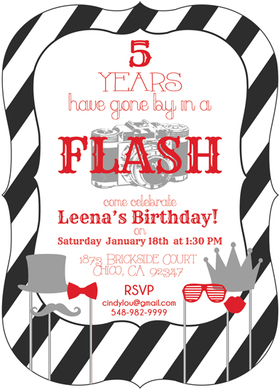 party invitations - Gone By In A Flash! by Sonnet Okane