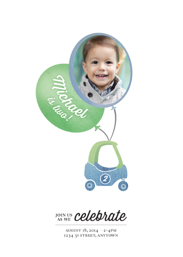 party invitations - Zoomin Photo Balloon by Lisa M