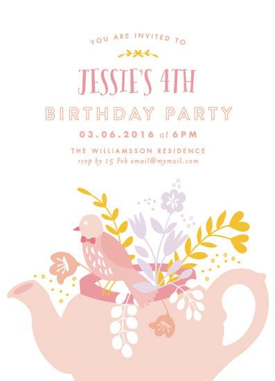 party invitations - Birthday Teacup by Phrosne Ras