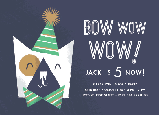 party invitations - Bow Wow by Carmi Cioni