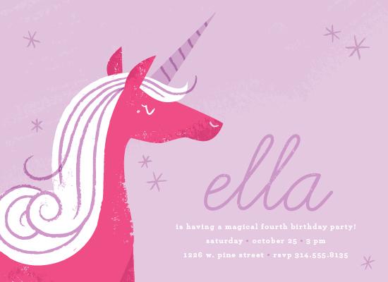party invitations - Sweet Unicorn by Carmi Cioni