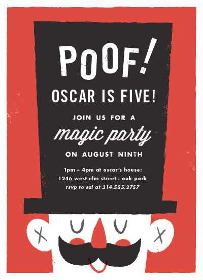 party invitations - Poof: Birthday Magic by Carmi Cioni