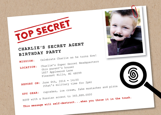 party invitations Secret Agent at Minted – Spy Party Invitation