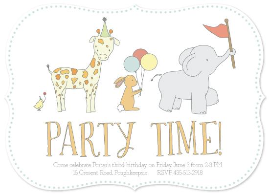 party invitations - Fuzzy Parade by RitzyReba