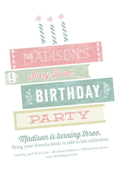 party invitations - Storybook Birthday by Carol Fazio