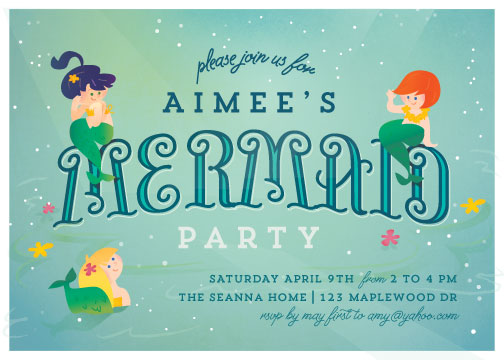 party invitations - Mermaids by Lori Wemple