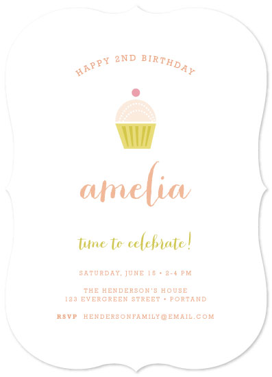 party invitations - Pastel Cupcake by Shannon Hays