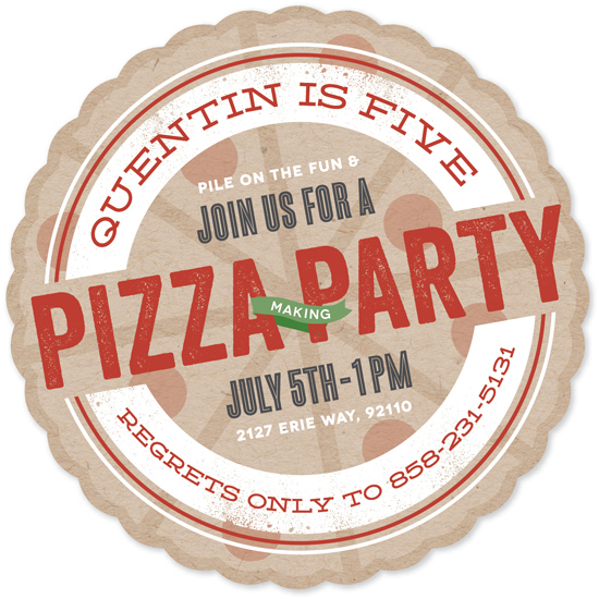party invitations - Pizza Pie by Erica Krystek