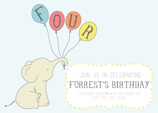 party invitations - Elephant Wishes by RitzyReba