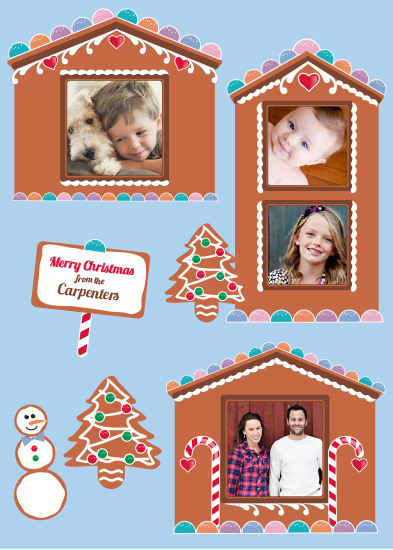gift wrap - Gingerbread House by Molly Courtright
