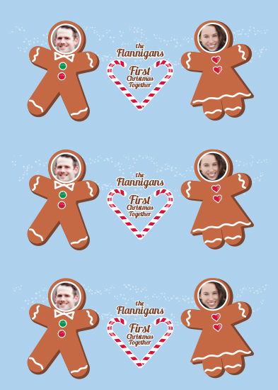 gift wrap - Gingerbread People by Molly Courtright