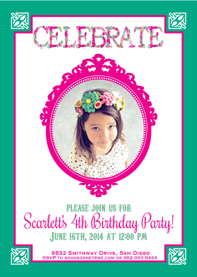 party invitations - Celebrate Celebrate Celebrate! by Sonnet Okane