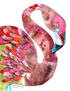 Flamingo Watercolor Cutting