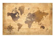Vintage World Map by Amae Designs