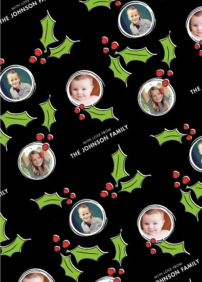gift wrap - Jolly Holly by Rebecca Durflinger
