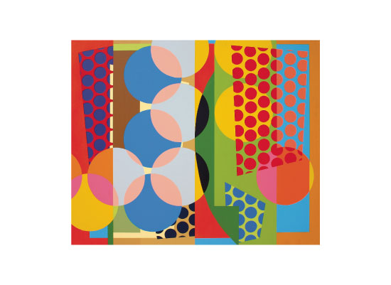 art prints - Blue And Orange Intersections by Russ Horvath