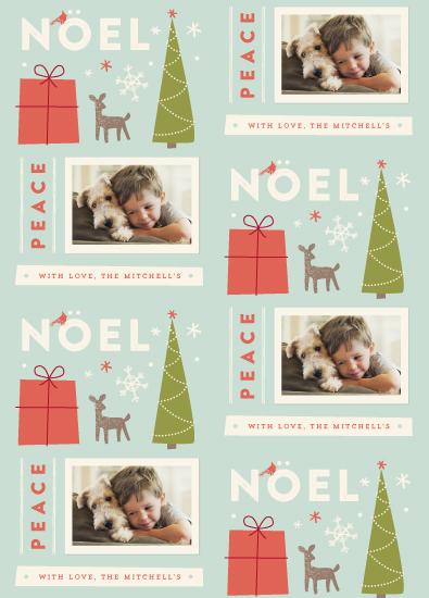 gift wrap - Retro Noel by Jennifer Wick