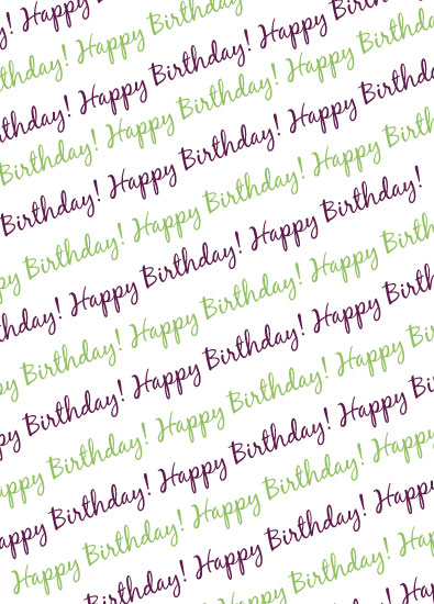 gift wrap - Happy Birthday Wishes by Allison Grice