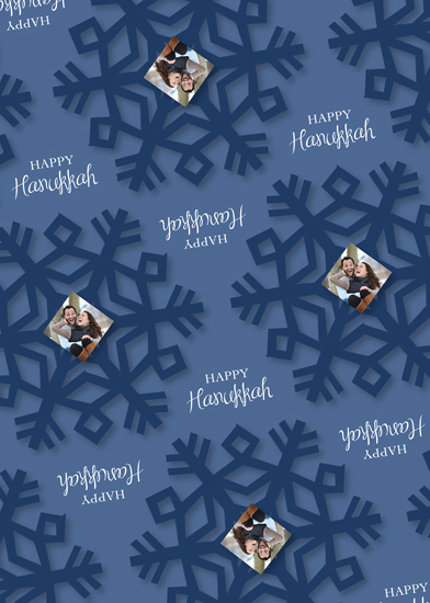 gift wrap - Winter Hanukkah Wishes by MJ