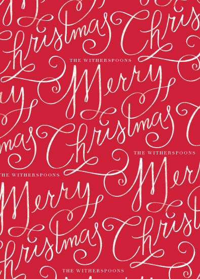 gift wrap - Merry Calligraphy by Lori Wemple