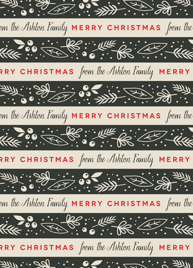 gift wrap - Festive Ribbon by Melanie Severin