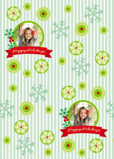 gift wrap - Happy Holidays Circle by MK