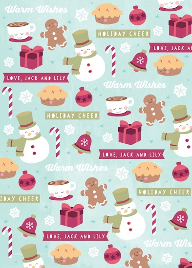 gift wrap - sweet & toasty by peetie design