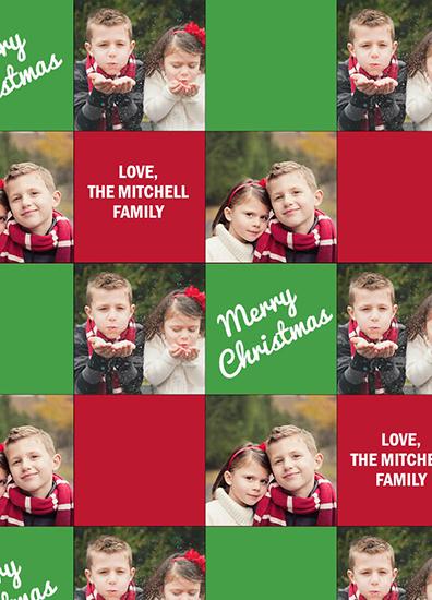 gift wrap - Checker Board Christmas by Katrina Mitchell
