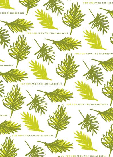 gift wrap - Evergreen by Oscar & Emma