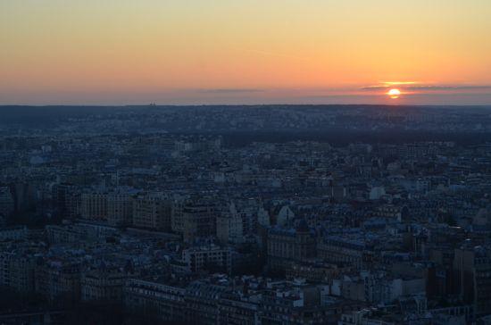 art prints - Sunset in Paris by Jessica Ellingsworth
