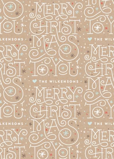 gift wrap - Merry Lettering by Jennifer Wick