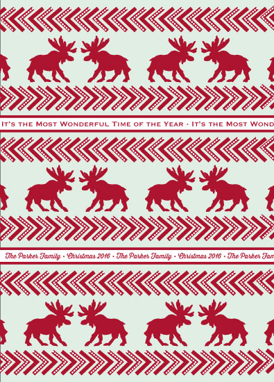 gift wrap - Moose Christmas by Leila Rookstool