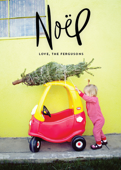 holiday photo cards - Handwritten Noel by Sarah Curry