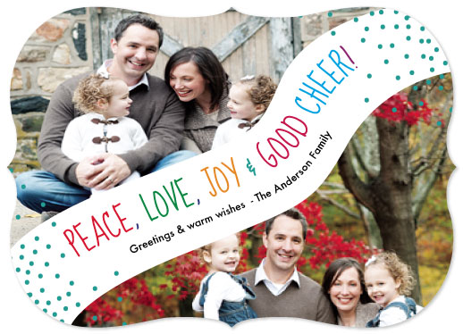 holiday photo cards - Peace Love Joy by Shrubabati