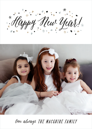 holiday photo cards - Confetti Chic by Hooray Creative