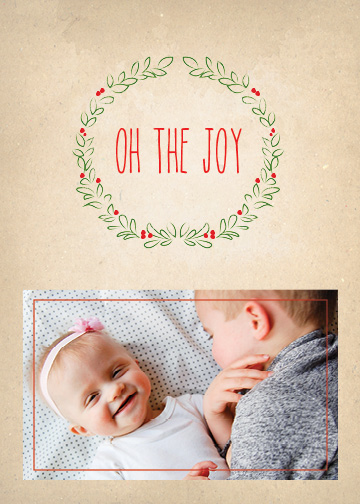 holiday photo cards - Oh the Joy by Alexandra Cook