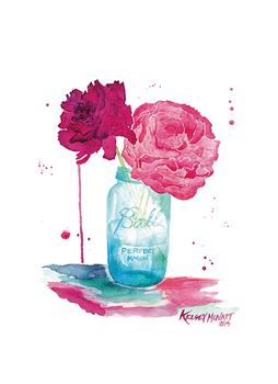 Peonies and a Mason Jar