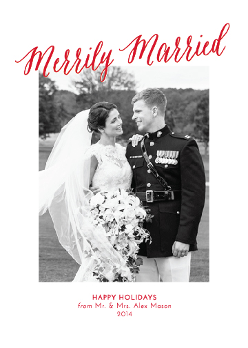 holiday photo cards - Merrily Married by katrina gem